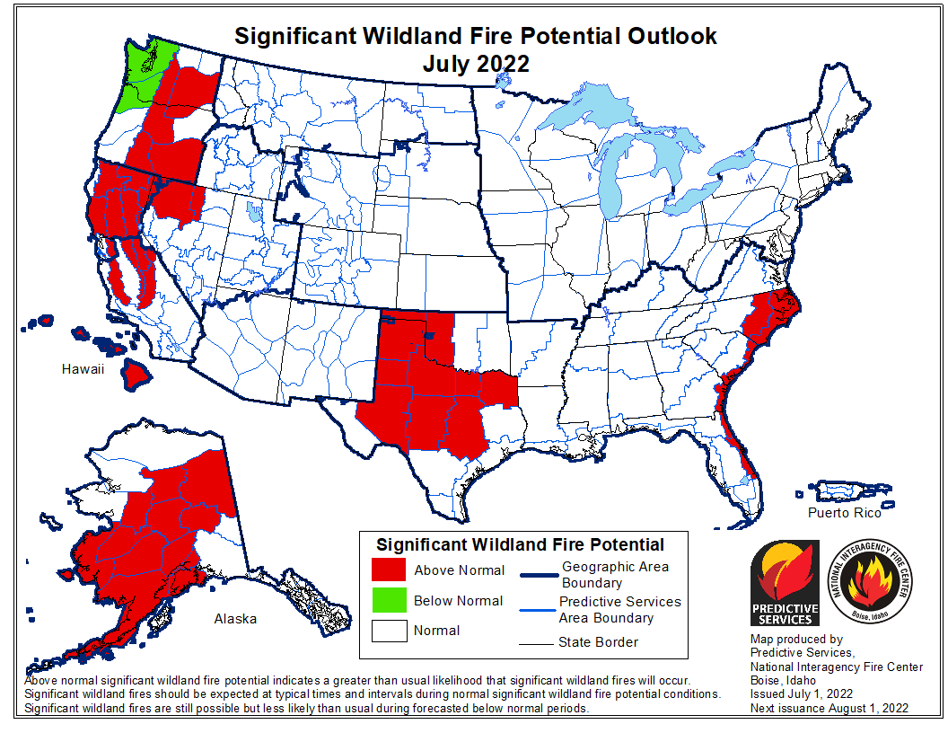 Wildfire Monthly Outlook